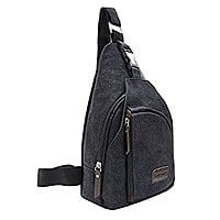 Unisex Canvas Sling Crossbody Bag @ Amazon $  10.49 after 25% off