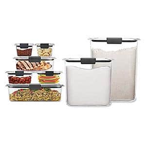 Prime Members: 16-Piece Rubbermaid Brilliance Storage Containers w/ Lids (Clear) $34.20 + Free Shipping