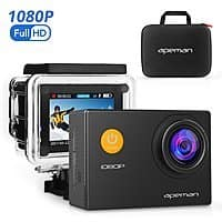 Amazon - Action Camera 12 MP Full HD 1080P Waterproof w/ Camera Case - $  22.99