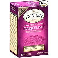 Twinings Decaf Chai Tea OR Darjeeling 20 Count Bagged Tea (6 Pack), as low as $8.55 after coupon and max SS discount (15% w/5 or more items)