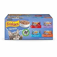 Purina Friskies Canned Wet Cat Food 32 Count Variety Packs  5.5 oz Cans $13