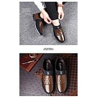 Men's Leather Slip on Shoes for $39.95
