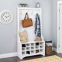 Hall Tree with Shoe Storage (Espresso Brown) for $117.59 - Target