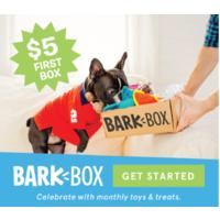 BarkBox - $  5 First BarkBox Subscription + Free Shipping