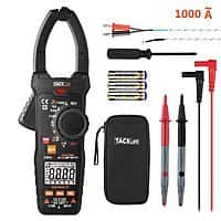 Digital Clamp Meter, Multimeter Tacklife CM04 TRMS 6000 Counts Selection Range Multimeter for AC Current,AC/DC Voltage, Frequency, Duty Cycle $2.35