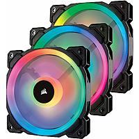 Corsair LL Series LL120 RGB 120mm Dual Light Loop RGB LED PWM Fan 3 Fan Pack with Lighting Node Pro $75