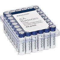 48-Pack Insignia Alkaline Batteries (AA or AAA) $7.64