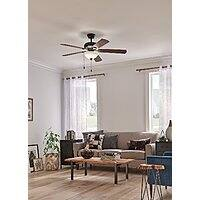 "Save $20 on 52"" LED celing fan with light kit.  Total Price $109.95 @amazon + FS for prime members"