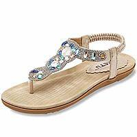 ZOEREA Women Sandals Shoes Flip Flops Ankle Strap Summer Sandals $12.49