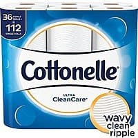 Cottonelle Ultra CleanCare Toilet Paper 36 Family+ Rolls S&S $15.18