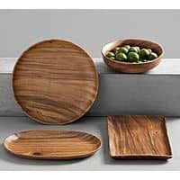 "Pottery Barn: Mill Acacia Solid Wood 16"" Serving Platter $  17 + FS (Reg. $  69)"