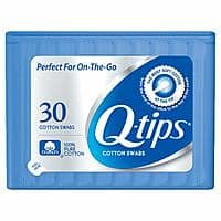 30-Count Q-tips Swabs Travel Pack $0.59 + Free Shipping w/ Prime