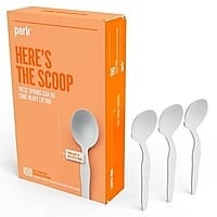 100-Pack Perk Heavyweight Plastic Soup Spoons $2.20 + Free Shipping