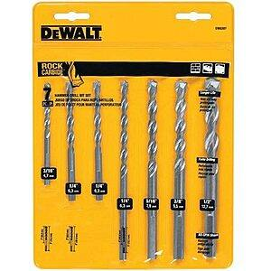 7-Piece DeWalt Rapid Load Carbide Masonry Drill Bit Set $7 or less w/ SD Cashback + Free Store Pickup at Ace Hardware