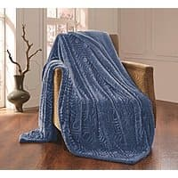 All American Collection New Solid Plush Throw Blanket with Sherpa/Borrego Backing Queen/King Size $  35.99