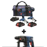 at lowes bosch 18v three piece tool set for $179.00