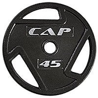 """Cap Barbell 2"""" Olympic Grip Plates Amazon $  0.69 cents a pound all weights except 35 lbs"""