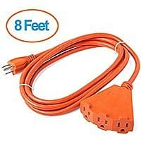 ClearMax ETL Certified 3 Outlet Heavy Duty Extension Cord Power Splitter 16AWG Indoor / Outdoor Use - 8 Feet / 25 Feet (Green/Orange) starting $  7.99 FSSS Amazon