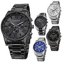 Men's Akribos XXIV AK736 Quartz Multifunction Stainless Steel Braclet Watch $  39.98