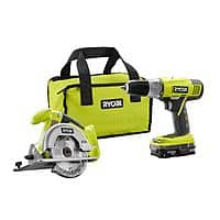 Home Depot : RYOBI 18-Volt ONE+ Lithium-Ion 2-Tool Combo Kit with Drill, Circular Saw, 1.3 Ah Battery, Dual Chemistry Charger, and Tool Bag, $69, Free Shipping
