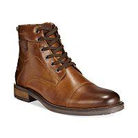 Alfani Men's LEATHER Jack Cap Toe Boots, $40 with code FLASH, Macy's