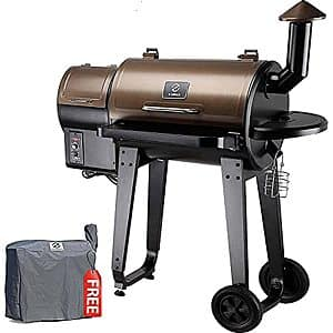 Z GRILLS ZPG-450A 2020 Upgrade Wood Pellet Grill & Smoker 6 in 1 BBQ Grill Auto Temperature Control, 450 Sq in Bronze, $294.99, ZPG-550A $369, Amazon