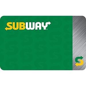 $50 Subway gift card, $40, $50 Designer Shoe Warehouse gift card, $40, $50 Steak n Shake, $40, e-mail delivery, Kroger Gift Cards