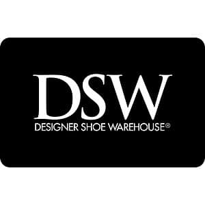 $50 DSW Designer Shoe Warehouse eGift card, $40, Kroger Gift Cards