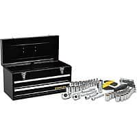 Stanley 81-Piece Standard (SAE) and Metric Mechanic's Tool Set with Tool Chest for $  39.98 @Lowe's