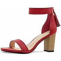 Allegra K Women's Tassel Ankle Strap Heeled Sandal for $29.99 @amazon