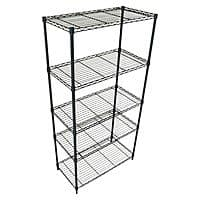 Black or Chrome Adjustable Shelving Unit - $  40 + FS