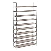 Shoe Rack 10 Tiers Shoes Organizer Storage with Spare Parts Stackable Tower Cabinet Holds up to 50 Pairs of Shoes, 68'' x 39'' x 10'', DIY Assembly $21.99