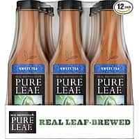 Prime Members: Pure Leaf Iced Tea, Sweet Tea, Real Brewed Black Tea, 18.5 Ounce Bottles (Pack of 12) $  6.58 or less S&S