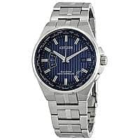 CITIZEN Ecodrive World Perpetual A-T World Time Blue Dial Men's Watch $189