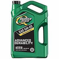 Quaker State Advanced Durability 5W-20 Motor Oil (SN/GF-5), 5 quart $7.55