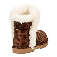 CALISTOGA Calistoga Vegan Suede Faux Fur Ankle Boots (Little Girls & Big Girls) $7.99