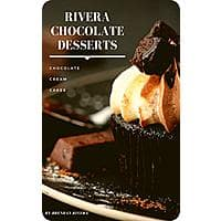 Rivera Chocolate Desserts: Chocolate, Cream, Cakes, Cookies. Make your life more chocolatey. Free Kindle Recipe booklet Image