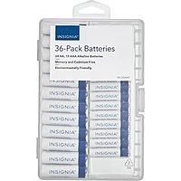 Insignia Alkaline Batteries(36-Pack): 24-AA & 12-AAA Batteries $6.99 + Free Store Pickup