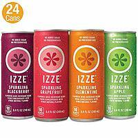 24-Pack 8.4oz IZZE Sparkling Juice (Variety Pack) $7.20 w/ S&S + Free Shipping