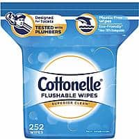252-Count Cottonelle FlushCare Flushable Wipes for Adults, $6.57 or less w/ S&S + free s/h