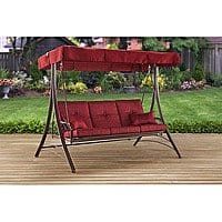Mainstays Callimont Park 3-Seat Canopy Porch Swing Bed, Red $175.00 + fs online deal