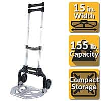 Olympia Tools Pack-N-Roll Folding Hand Truck, 150lb. $17