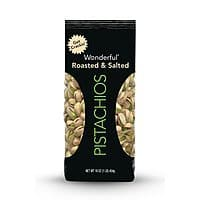 Wonderful Pistachios, Roasted and Salted, 16 Ounce Bag $2