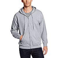 Hanes Men's Full-Zip Eco-Smart Fleece Hoodie Light Steel (Various Sizes) - $7.50