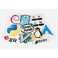 10-Count Unixstickers Die Cut Vinyl Stickers Pro Pack $1 + Free Shipping
