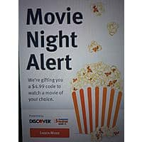 FandangoNOW Digital Movie Rental Credit Free via Discover Ad Image