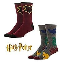 2-Pairs Bioworld Harry Potter Crew Socks $4 + Free Shipping