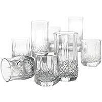 16 Piece Glass ware Sets $18, White Porcelain Square 16-pc. Dinnerware Set $22.50 @ JCPenney