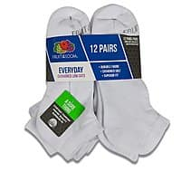 24-Pairs Mens Fruit of the Loom Socks (Cushioned Ankle or Low Cut) $15 + Free Shipping $14.93
