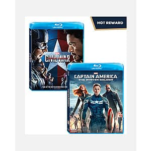 Disney Movie Insiders: Captain America: The Winter Soldier (Blu-ray) + Captain America: Civil War (Blu-ray) 400 Points **9 am PT on Wednesday 4/14**